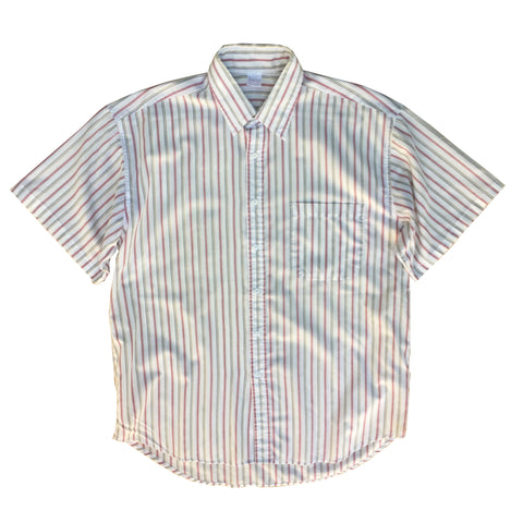 Button Down Collar Short Sleeved Shirt - L