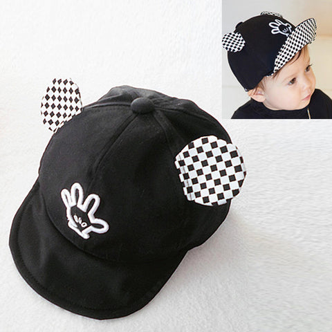 baseball hat with pig ears minnie mouse cap makes stick out colors spring summer baby hats mickey hand embroider large