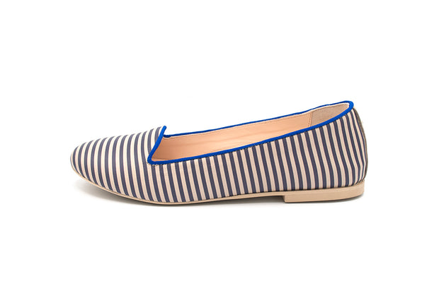 Loafer Monia righe Blu
