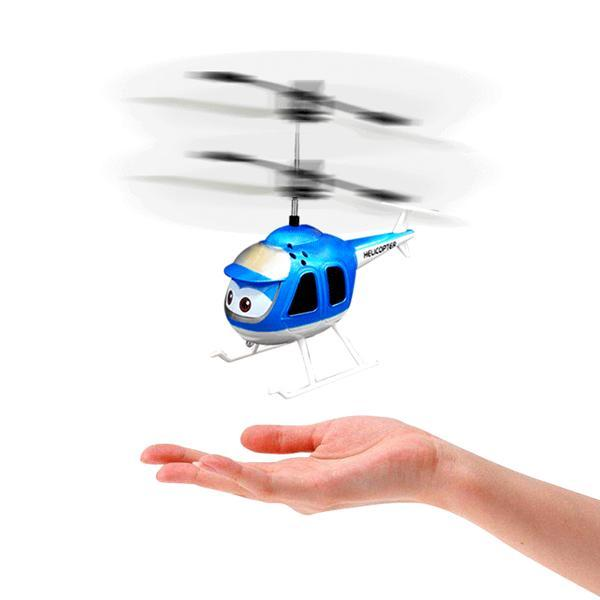 Flying Helicopter Air Craft With Hand Induction Control