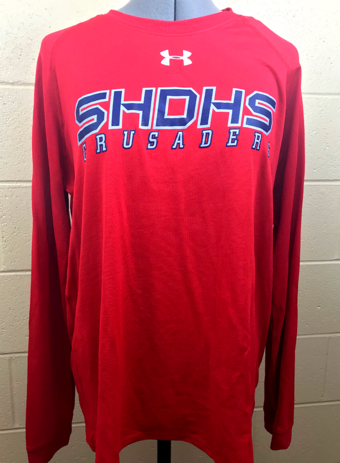 Underarmour Dry Fit Locker Long Sleeve shirts ST. HENRY logo