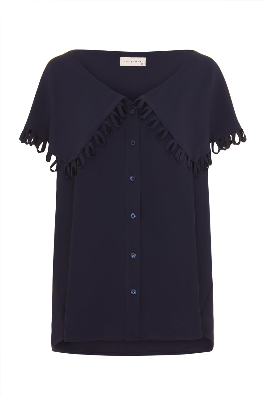 Taylor Blouse- Navy