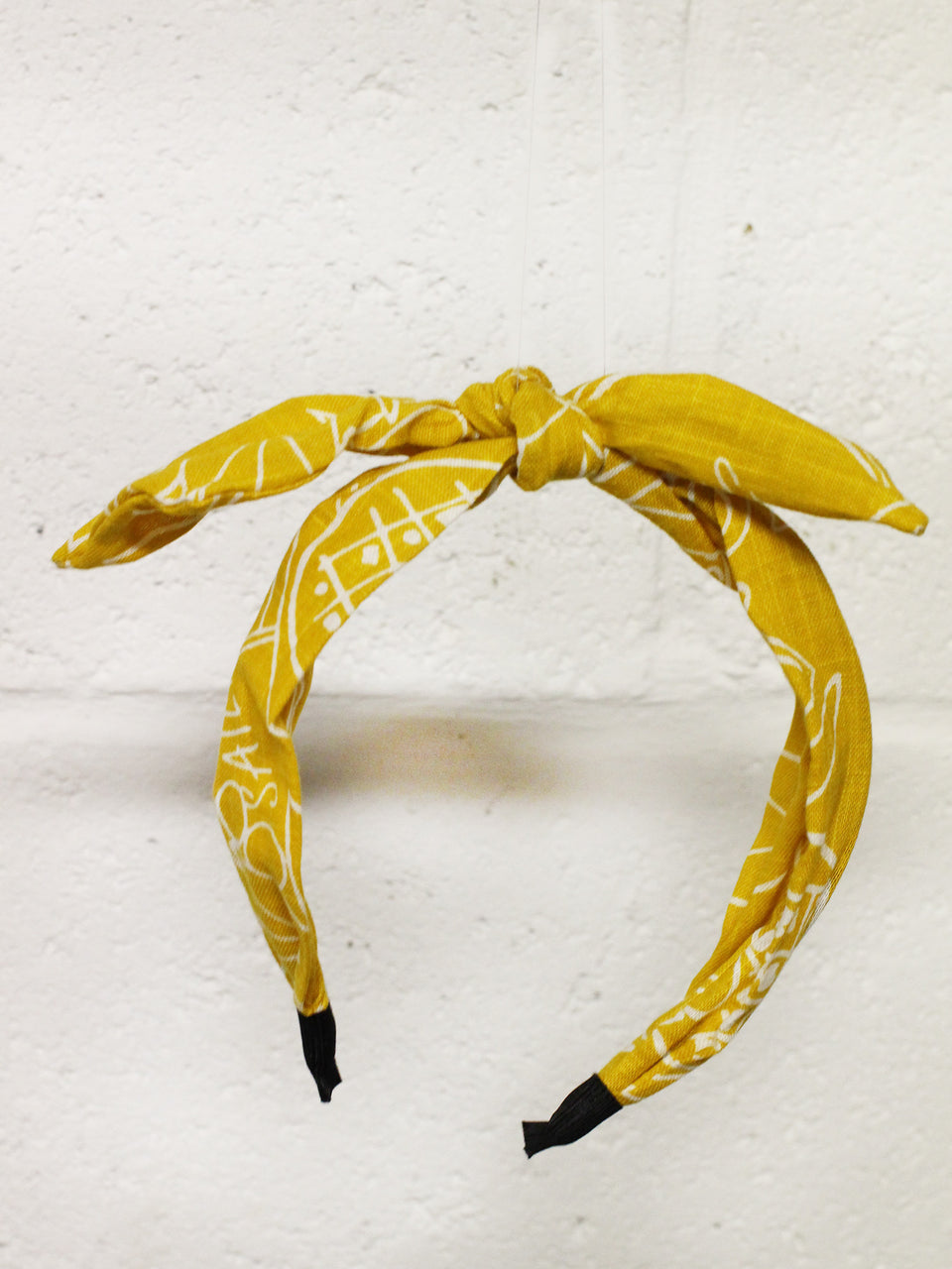 Geo Wire Headband- Yellow