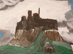 Holy Island Castle, original artwork