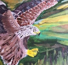 Red Kite, Gateshead, original artwork