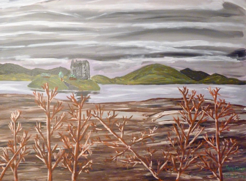 Castle Stalker, Scotland, original artwork