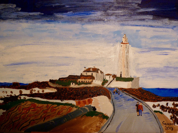 Ceramic Printed Mug - St Mary's Lighthouse (Original Painting Sold)