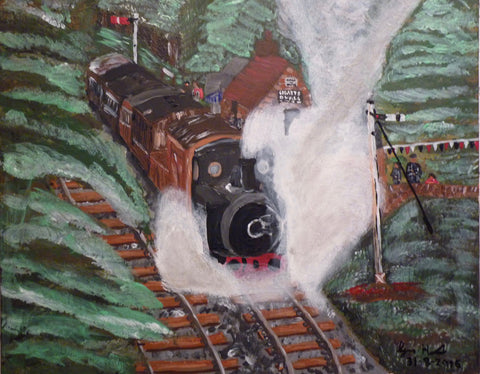 Tanfield Railway, Gateshead, original artwork
