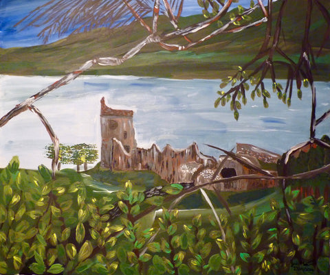 Urquart Castle, original artwork