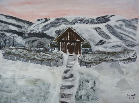 Viking House of Iceland, original artwork