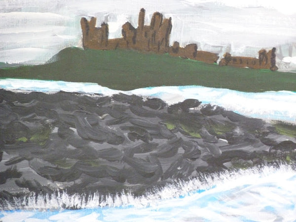 Dunstanburgh Castle, Northumberland, original artwork