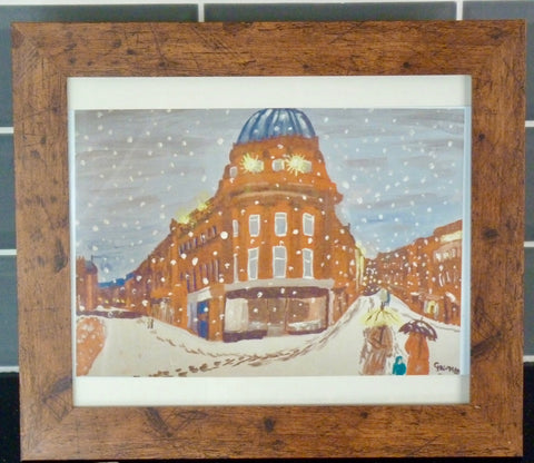Limited Edition Aluminium Print - Newcastle in the Snow