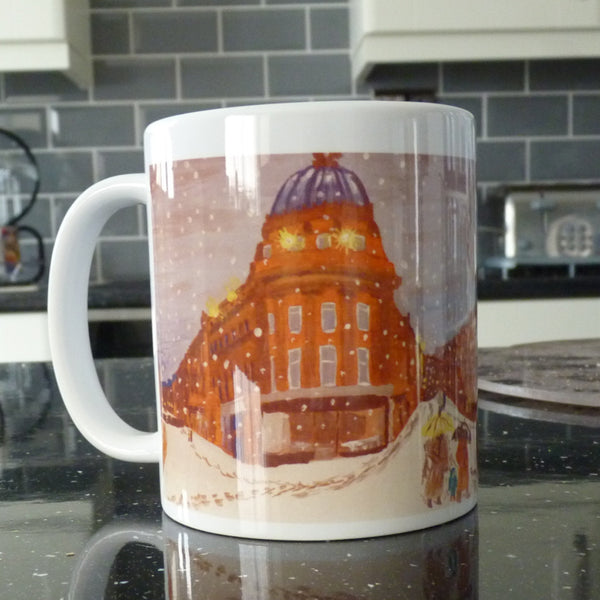 Ceramic Printed Mug - Newcastle in the Snow