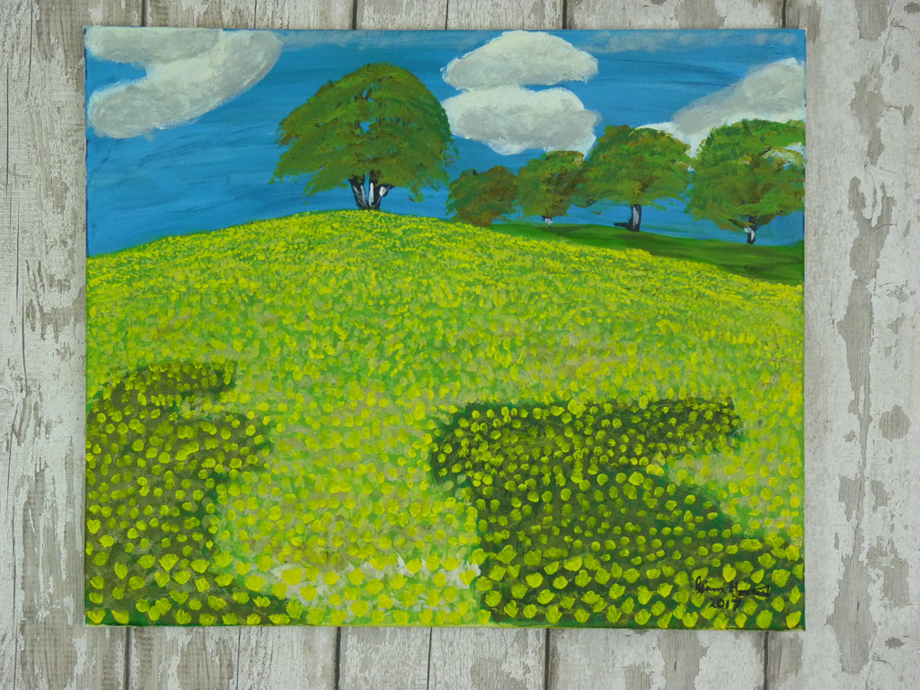 Buttercup Hill - Original painting