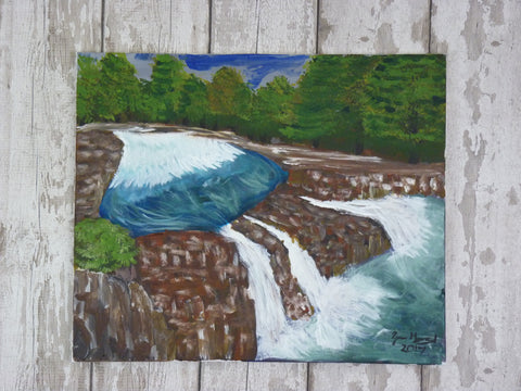 Low Force Waterfall. Original Painting