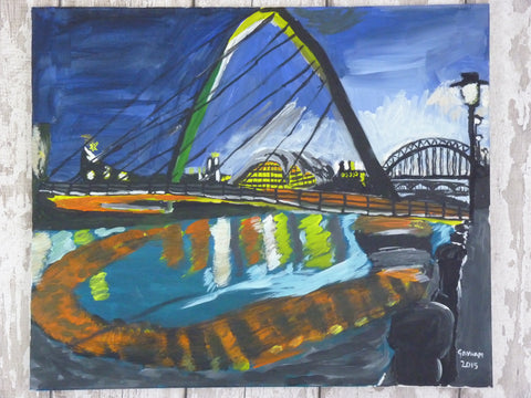 Millennium Bridge, Original Painting