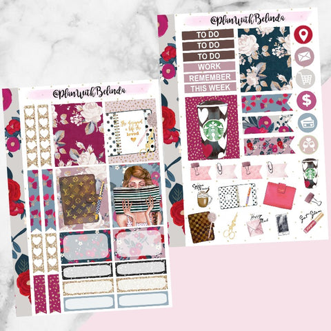 Rosette Agenda Sticker Kit