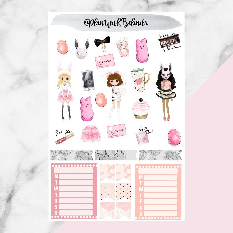 Snuggle Bunny Sticker Kit