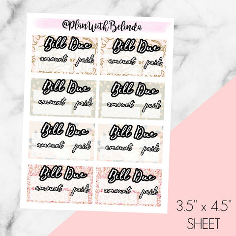 Lily Pattern Bill Due Minis - MATTE