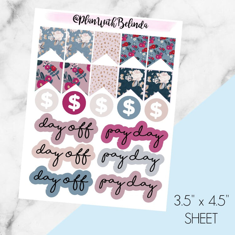 Rosette Pay Day Reminders - MATTE