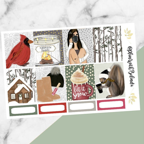 Snow Cabin Sticker Kit