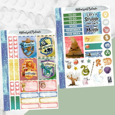 Hogwarts House 2 Sheet Sticker Kit
