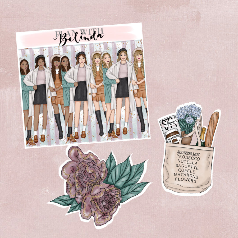 Girl's Night In Sticker Kit Add-on