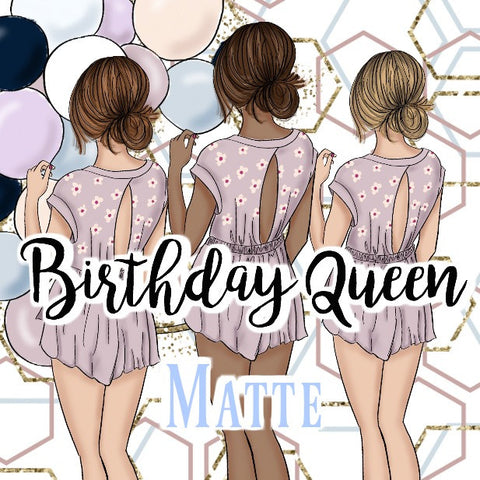Birthday Queen Sticker Kit - MATTE