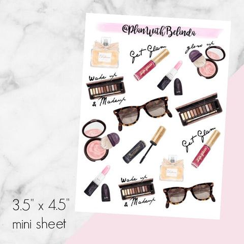 Wake up & Makeup Sticker Mini - MATTE
