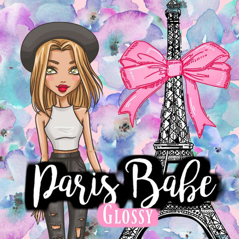 Paris Babe Sticker Set - GLOSSY