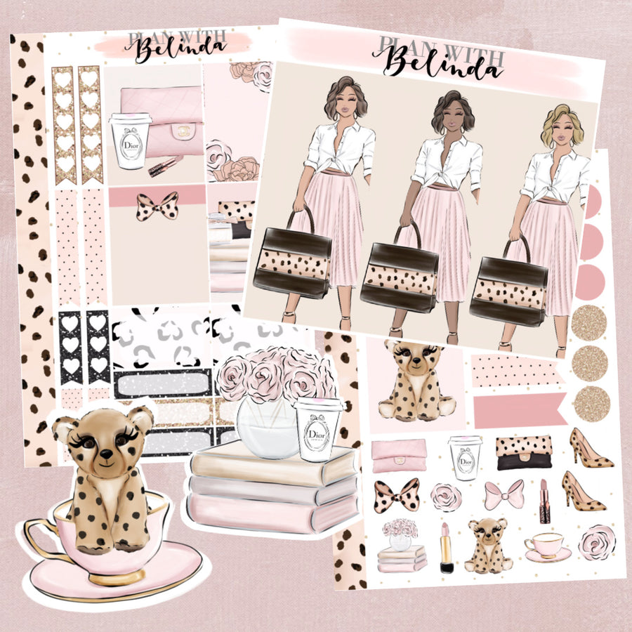 PRETTY IN PINK - 2 SHEET STICKER KIT BUNDLE