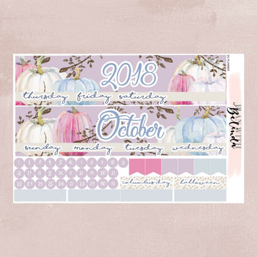 OCTOBER 2018 - EC PLANNER MONTHLY STICKER KIT