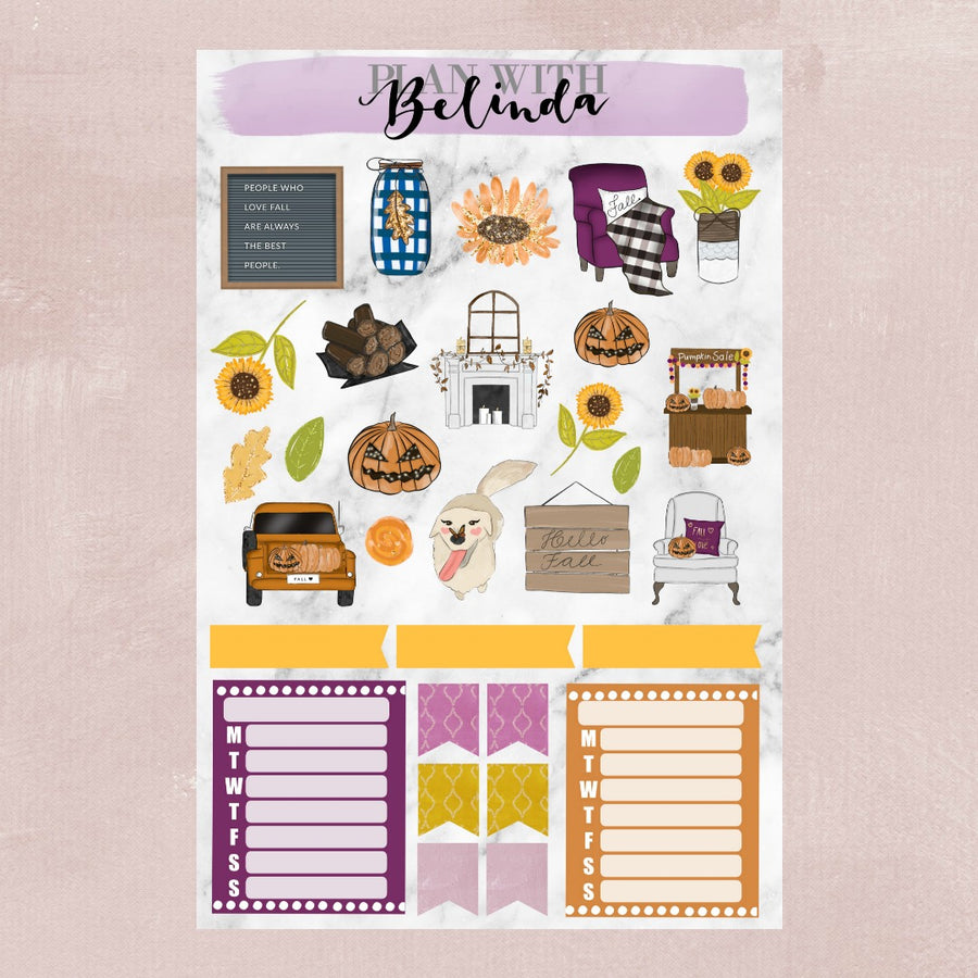 HELLO PUMPKIN - STICKER KIT