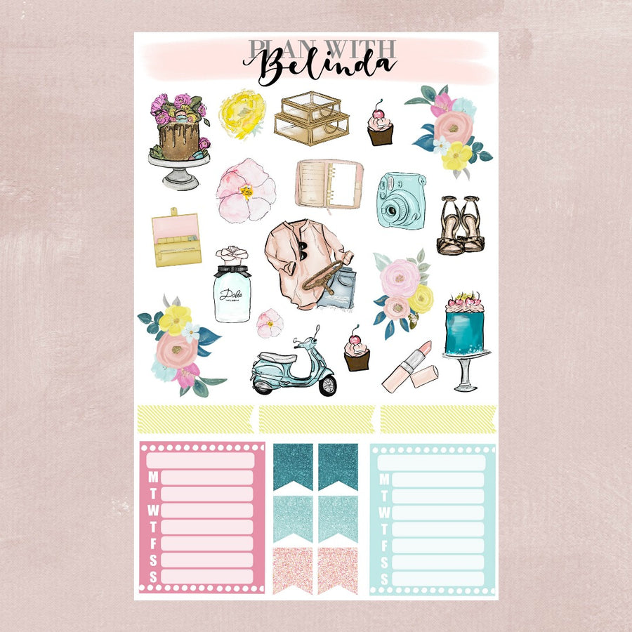 WILD FLOWER - STICKER KIT