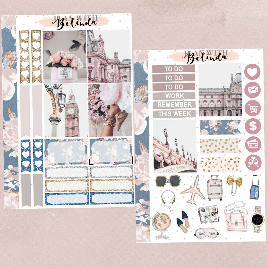 PINK PEONIES  - STICKER KIT