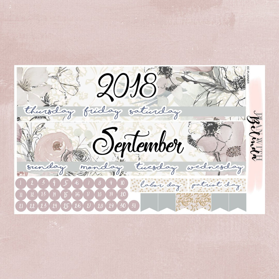 SEPTEMBER 2018 - EC PLANNER MONTHLY STICKER KIT
