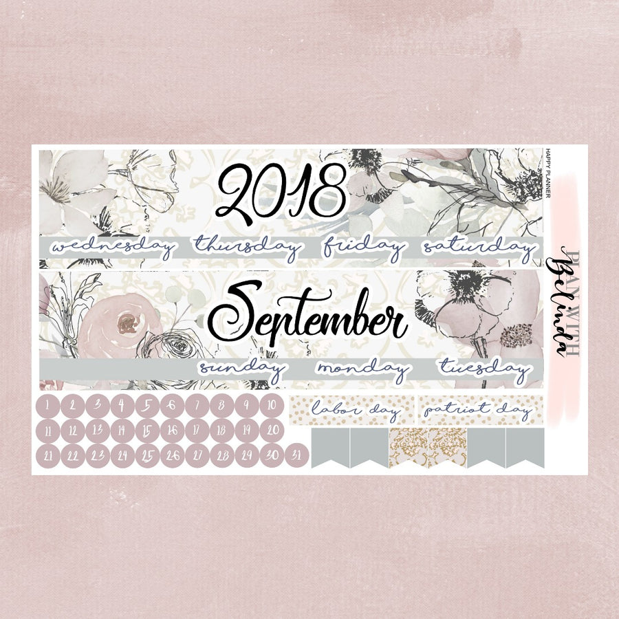 SEPTEMBER 2018 - HAPPY PLANNER MONTHLY STICKER KIT
