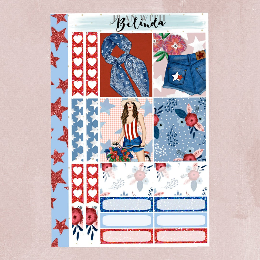 RED WHITE & BLUE - STICKER KIT