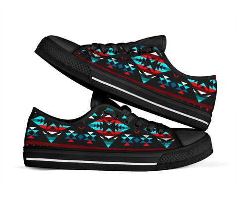 Teal/Red Native Print