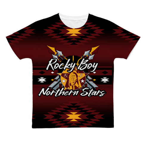 Rocky Boy Stars Battle Shirt New 2 Classic Sublimation Adult T-Shirt
