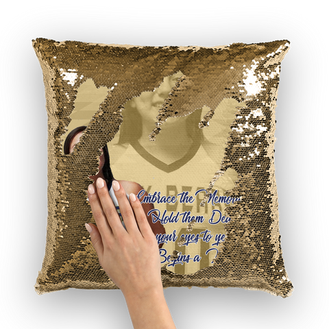 Senior Lilly Gopher Sequin Cushion Cover