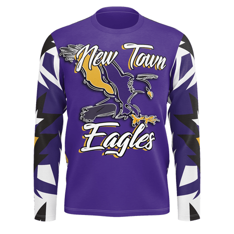 New Town Eagles Long Sleeve Native Print