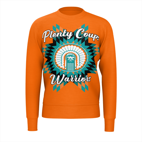 Plenty Coups Warriors Orange Sweatshirt