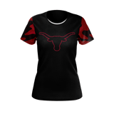 Fort Benton Longhorn Girls Camo Tee 3