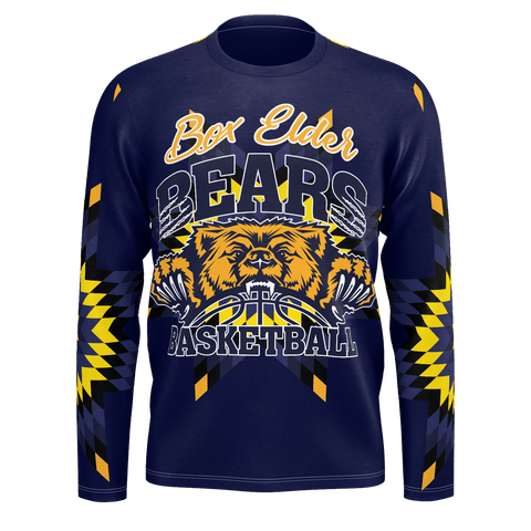 Box Elder Bears Basketball Longsleeve Star Pattern
