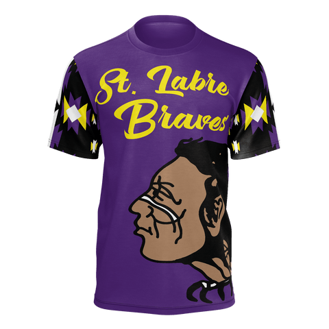 St. Labre Braves Short Sleeve Tee Patterned