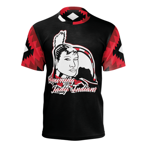 Browning Lady Indians Short Sleeve Pattern Collar