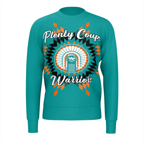 Plenty Coups Warriors Teal Sweatshirt