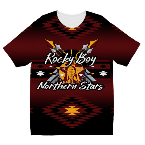Rocky Boy Stars Battle Shirt New 2 Sublimation Kids T-Shirt