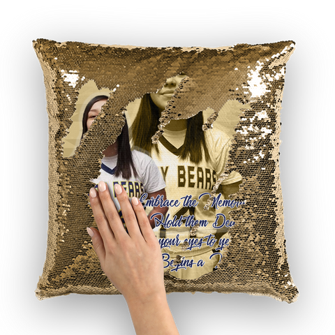 Senior Maddie Wolfchief Sequin Cushion Cover